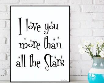 Boyfriend Christmas gift, Girlfriend Christmas gift, Love quote poster, Modern design, Home wall decor, Nursery decor, Illustration print