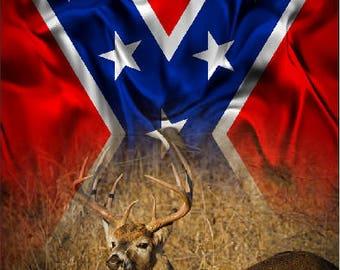 Buck Deer In Grass Flag 2 Cornhole Wrap Bag Toss Decal Baggo Skin Sticker Wraps