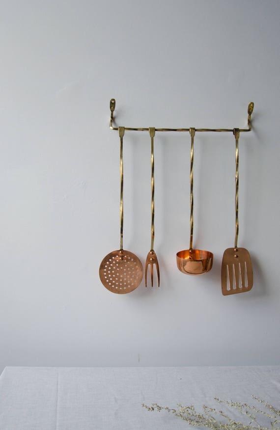 Vintage copper + Brass cooking utensils