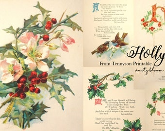 Holly From Tennyson Christmas Printable