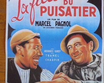Vintage French Cinema Poster Print,' La Fille du Puisatier' by Marcel Pagnol, Film Publicity 1017037-405