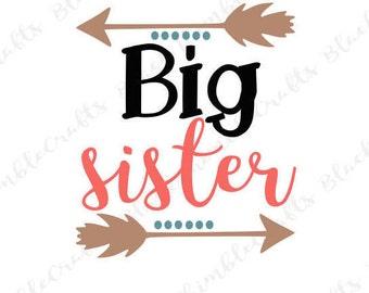 Big Sister svg, cricut cut file, svg vector file, svg cut file, mother svg, mom svg, clip art, sister svg, baby svg, pregnancy svg