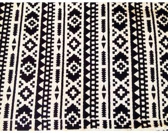 Aztec Fabric | Native Fabric | Tribal Fabric | Ethnic Fabric | BOHO Bohemian Style | fabric by the yard - 1 Yard (#1)