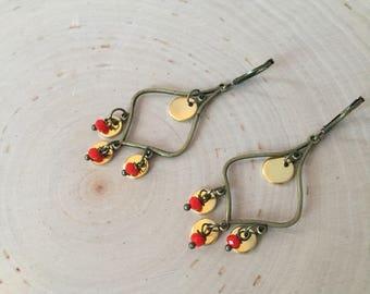 Model Polygiros - earrings-earrings