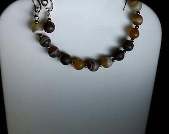 TIBETAN AGATE ARGENTIUM Silver Bracelet