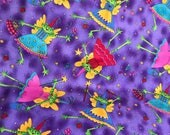 Frog Fairy Godmother Princess Fabric by KP Kids and Co.