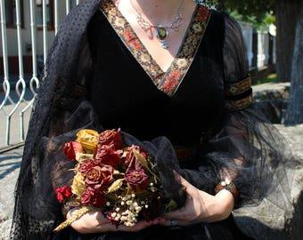 Black Wedding Dress, Gothic Dress, Black Velvet Dress, Fairy Dress, Fairy Wedding, Fantasy Wedding, Renaissance Dress, Gothic Wedding, Goth