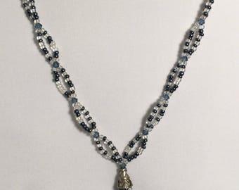 Unique delicate necklace CO144