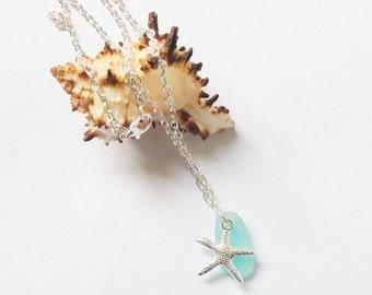 Sea Glass Pedant Sea Glass Necklace Beach Glass Necklace Sea Glass Jewellry Mermaid Jewellry Beach Wedding Jewelry Beach Bridesmaid Necklace