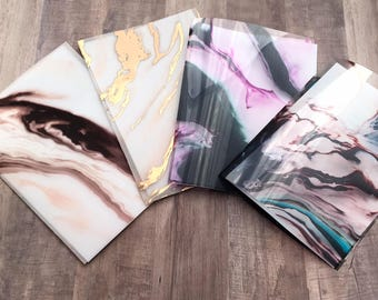 Marble TN Dashboard Set of 4- Foiled vellum, Acetate