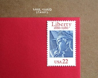 Statue of Liberty Centennial || Set of 10 unused vintage postage stamps