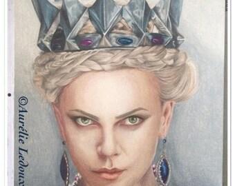 """Prismacolor pencil portrait of """"Snow White"""""""