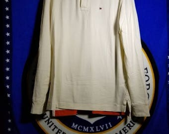 White Tommy Hilfiger Long Sleeve XL