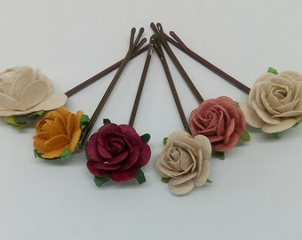 Vintage Coloured Hair Pins
