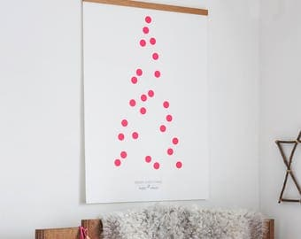 ONE TWO Christmas TREE, advent calendar, neon