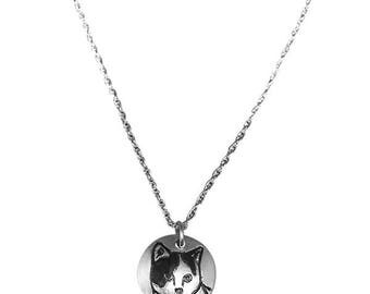 Calico Cat Silver Pendant Necklace, Cat Jewelry, Pet Jewelry, Memorial Necklace