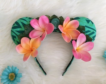 Te Fiti Ears | Moana Ears | Moana Minnie Ears | Flower Crown Design