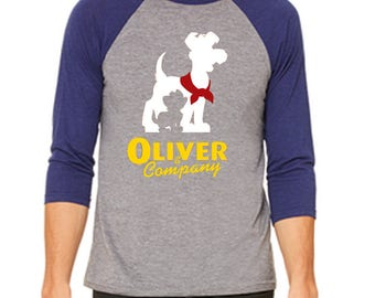 Disney Baseball Tee Raglan Shirt Oliver & Company Shirt Disneyland Shirt Disney World Shirt Magic Kingdom shirt