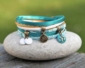 Bracelet liberty Betsy mint and lemon bracelet India, Indian bracelet, turquoise green bracelet
