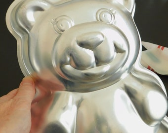 Old Wilton Teddy Bear Cake Party Pan, Birthday, Bake, Decorate, Party, Vintage Retro 2105-9402, Character Shaped Themed, Novelty Pan, Mold