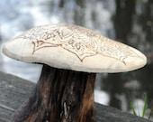 Hand carved, wood burned ...