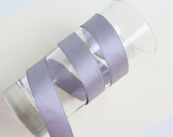 Grey grosgrain ribbon, 7/8 grosgrain ribbon, 20 mm grosgrain ribbon