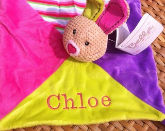 Personalised Baby Blankie Comforter. New Baby Gift. Baby Girls Plush Toy From Birth