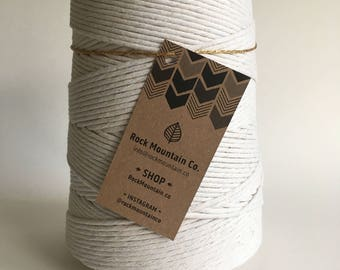3mm 4mm 6mm 8mm Cotton Macrame String, Bulk Macrame Cord, Craft Twine, Natural Cotton Rope, Twisted Ecru