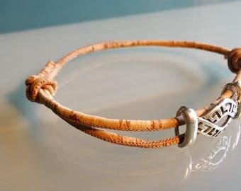 Vegan men jewelry Celtic bracelet men vegan men gift cork bracelet everyday vegan women gift S M L XL