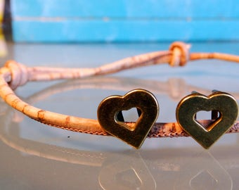 Vegan couples bracelet vegan couple gift simple vegan bracelet for couples love heart vegan girlfriend jewelry vegan boyfriend S M L XL