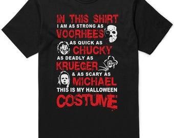 Jason Voorhees, Chucky, Freddy Krueger & Michael Myers Cheap Halloween Costume T-shirt