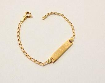 Hebrew baby bracelet etsy jewish baby gift jewish baby bracelet hebrew name bracelet jewish name bracelet negle Gallery