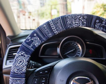 Steering wheel cover, Handmade car accessories, Multicolor car wheel cover, auto decor, Trendy automobile accessories
