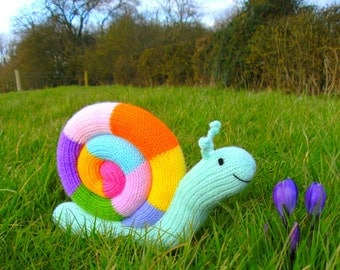 Jimmy Snail toy knitting pattern PDF instant download