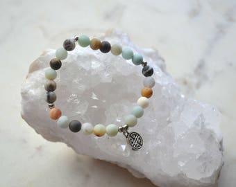 YUCATAN bracelet - Made of mixed Amazonite stones