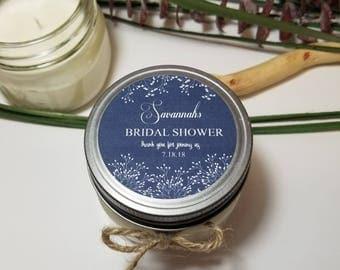 12 - 4 oz Bridal Shower Candles - Bridal Shower Favors - Soy Candle Favors - Bridal Shower Prizes - Wedding Favors - Personalized Favor