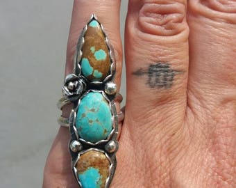 Desert Rose II - Arizona Turquoise Ring size 7.5