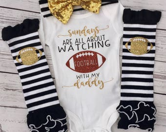 On sundays we watch football with daddy, football with daddy, glitter football, sundays are about football with daddy