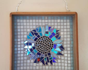 Handmade Mosaic Sunflower Wall Art