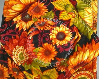 FALL FLOWERS Microwave Bowl Cozy **2 Sizes Available**