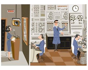 Retro Sound Laboratory. Print 30 x 40 cm.