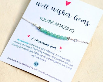 You're Amazing Bracelet, Best Friend Bracelet, Personalised Bracelet, Amazonite Bracelet