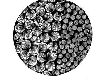 Giclee print of original design Circles/lines