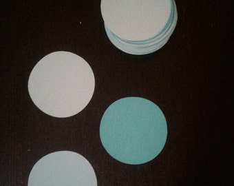 50 paper circles, die cut circles, circles, shapes