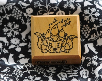 Singing  Coyotes   Rubber Stamp  1988  Great Notions  Vintage
