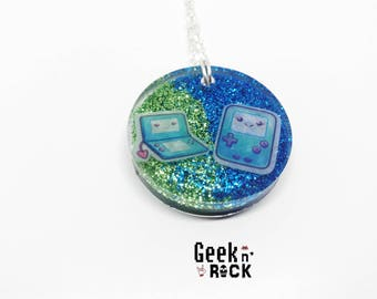 Controller geek nerd kawaii pastel necklace
