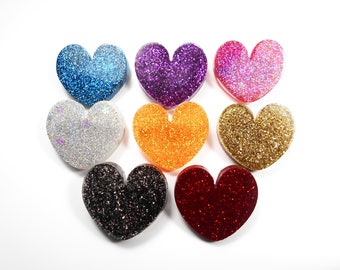 PIN kawaii heart resin with glitter