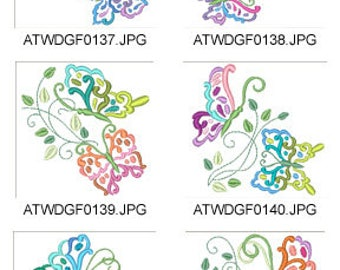 Butterfly-Effects ( 10 Machine Embroidery Designs from ATW ) XYZ17E