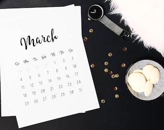 2018 calendar printable, 12 month calendar, Modern calendar pages, Printable calender 2018, Monthly printable calendar, Office calendar 2018