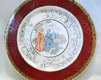 Hampton China Warranted 22 kt. Gold Plate